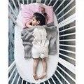 Manta Swaddle Muselina Mantas de bebé Recién Nacido Hecho A Mano De Lana Mezclada Suave Toallas de Conejo de Dibujos Animados de Punto manta de tiro 105*75 cm