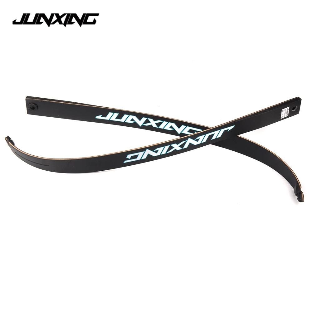 2 pcs lot Take Down Recurve Bow Fiberglass Limbs 20 32 lbs for JUNXING F155 Bow