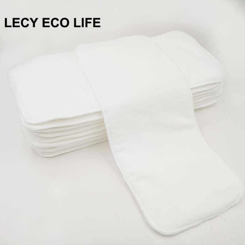 LECY эко жизнь 2 шт. 4 слоя абсорбент микрофибры Вставка для детские  подгузники, 17 432a05923b6