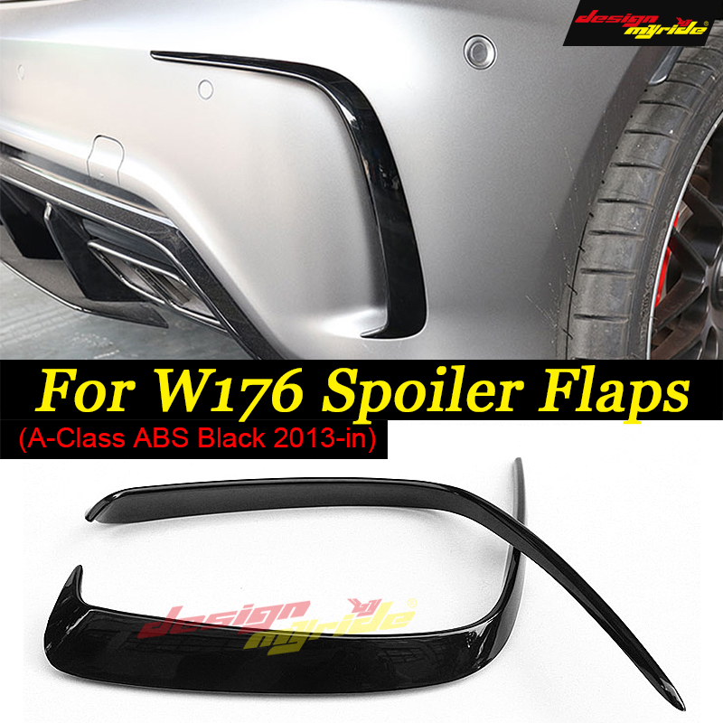 For Mercedes Benz W176 Posterior lip A45 AMG Rear Bumper Air Vent  Molding Trim canards Splitter ABS  A180 A200 A250 2013-18