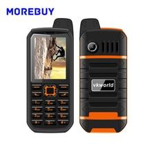 Vkworld Stone V3 Плюс MTK6261 Телефон IP54 Водонепроницаемый Пылезащитный Dropproof 4000 мАч Большой Power Bank 2.4 дюймов Экран FM Фонарик