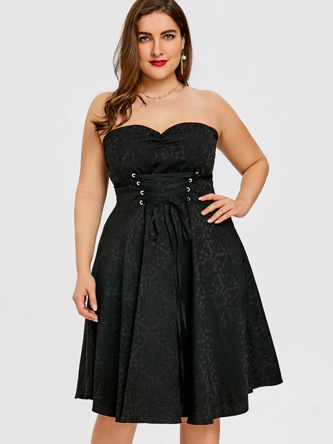 Aliexpress.com : Buy Wipalo Women Plus Size Strapless Lace Up ...