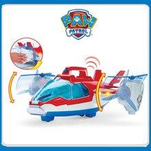 лучшая цена New Paw Patrol Dog Sound Effect Air patrol Aircraft Ryder Captain Robot Dog  plane Patrulla Canina Action Figures Model Toys