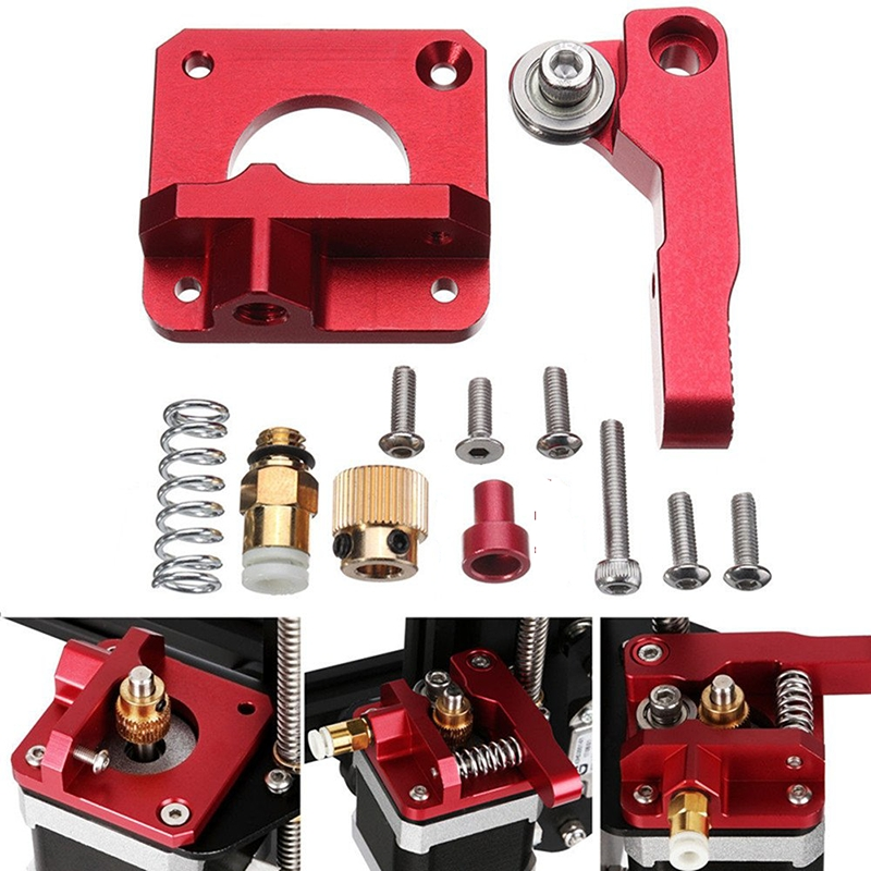 Upgrade 3D Printer Parts Aluminium Block Bowden Extruder Replacement For Creality Ender 3 CR-10/10S Extruder Kit Accessories