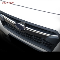 Car cover Fit For Subaru XV 2018 ABS chrome front head grille racing grill logo trademake decorative trim