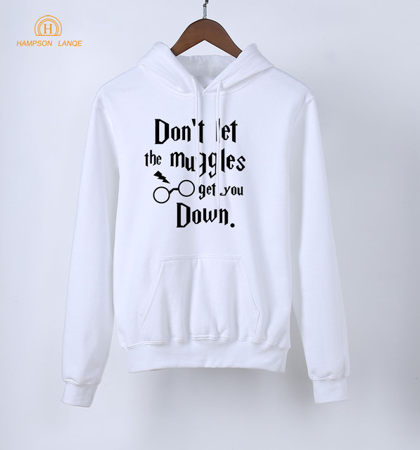 Don't Let The Muggles Get You Down Hogwarts Sweatshirts Hoodies Women 2018 Hot Spring Autumn Adult Kawaii Long Sleeve Pullovers