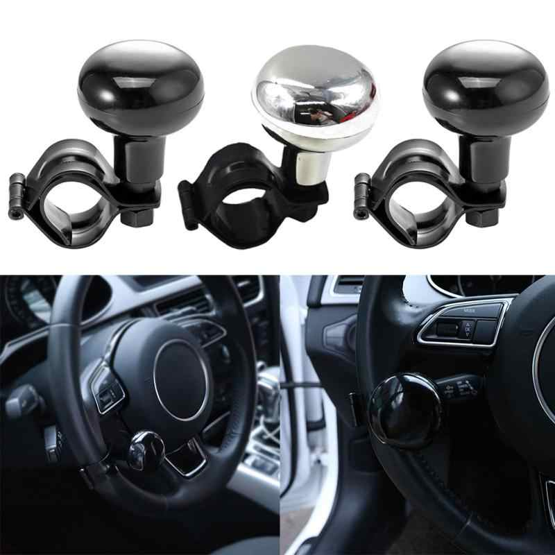 Electric Vehicle Parts Car Steering Wheel Spinner Knob Auxiliary Booster Aid Control Handle Grip Black Steering Wheel Knob Ball Turning Assistant Automobiles & Motorcycles