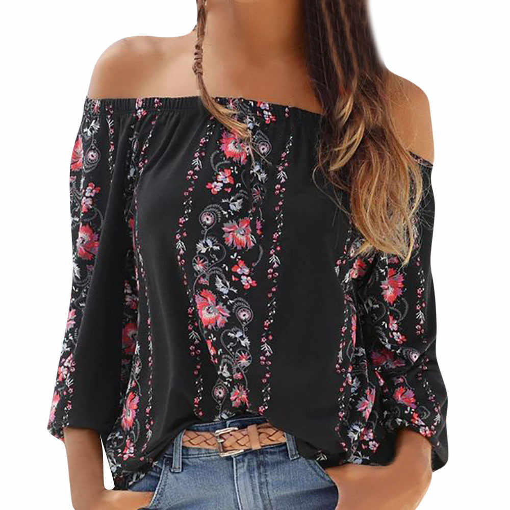 MUQGEW カジュアルルース女性シャツ 2020 秋のレディース長袖花柄の女性のブラウスシャツ