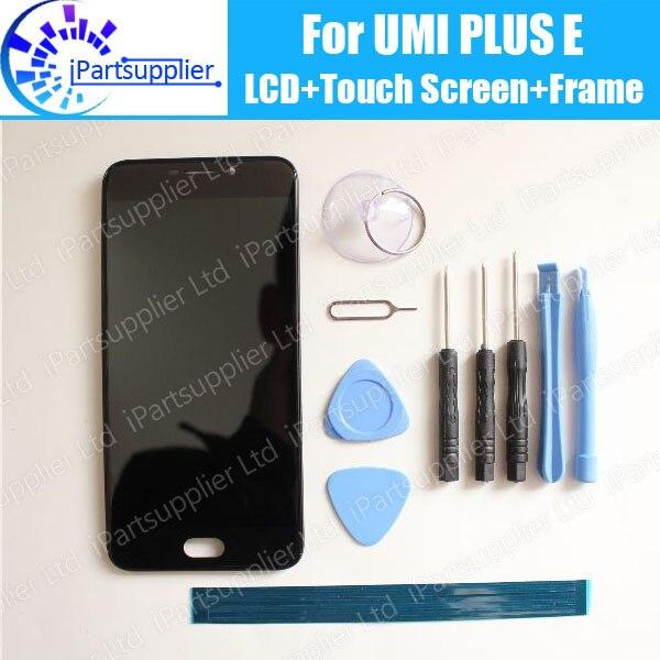 imágenes para Umi Plus E LCD Display + Touch Screen Digitizer + Conjunto Del Bastidor 100% Nuevo Original del LCD + Digitalizador Táctil para Umi Plus E + Herramientas