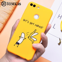 TOMKAS Funny Banana Cute Cartoon Case on for Huawei Honor 9 Lite Phone Case for Huawei P20 Lite P10 Lite P9 Lite Hard Back Cover(China)