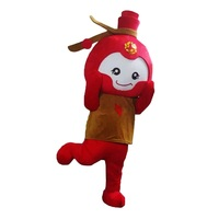 Firecrackers Dolls Mascot Costumes Cosplay Real Photo Free Shipping Long Hair Langteng (tm) 2019New