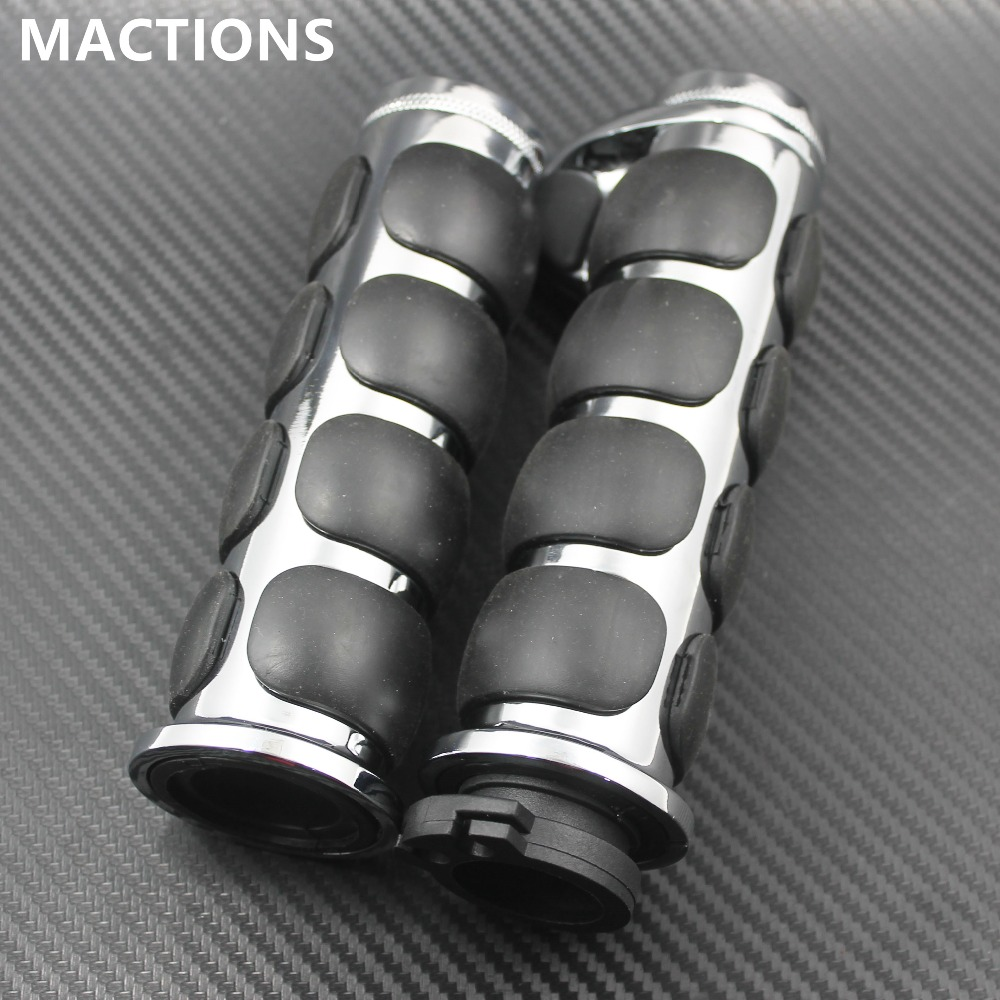 """Black Motorcycle Aluminum 1/"""" Hand Grips Soft Rubber for Kawasaki 1500 800 New"""