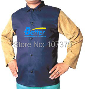 Flame Retardant Welding Clothing FR Cotton Coverall Welder Apron Fire Retardant Cotton Welding Jackets leather welder aprons reflective tape fr cotton coverall welding clothing flame retardant cotton leather welding jackets