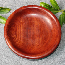 kabiku Burma rosewood 20 cm disc plate whole wood fruit & Buy wooden offering plates and get free shipping on AliExpress.com