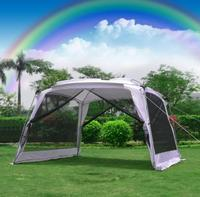 4 5 6 Person Awning Silver Coated Car Sunshade Portable Folding Beach Canopy UV Huge Shelter Tent Camping Outdoor Pergola