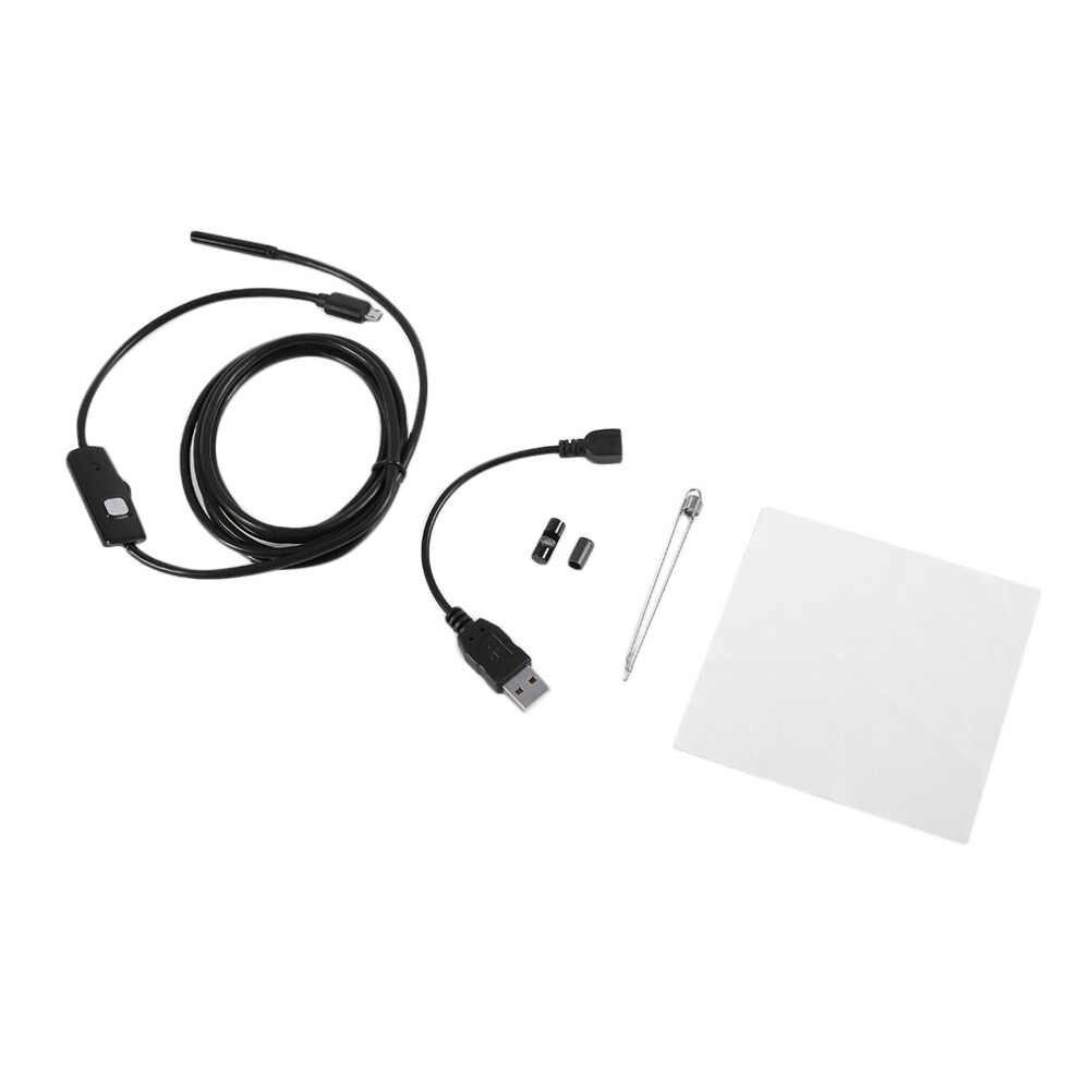 720P Tubo Endoscopio 5.5 millimetri 2M Micro USB HD Della Macchina Fotografica Del Periscopio di Ispezione Per PC Android Phone IP67 Impermeabile scope 6 Led Bianchi