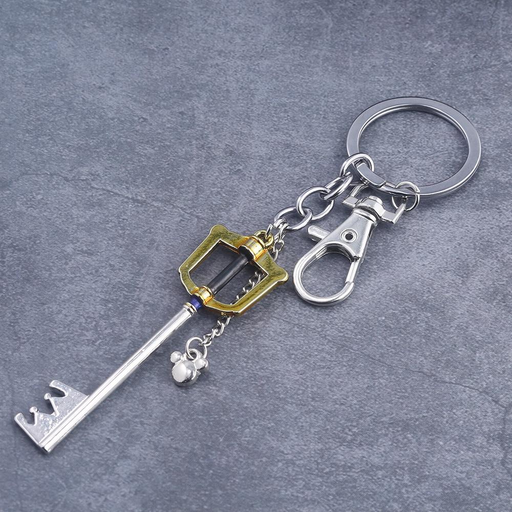SG Hot Game Kingdom Hearts Key Keychains Sora Crown Roxas Keyblade Paopu Fruit Weapon Pendants Keyring For Men Car Jewelry Gift