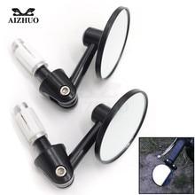 купить Universal motorcycle mirrors 22MM Handle Bar Handle Bar End Rear Side View Side Mirrors FOR YAMAHA HONDA SUZUKI DUCATI KTM BMW по цене 1230.98 рублей
