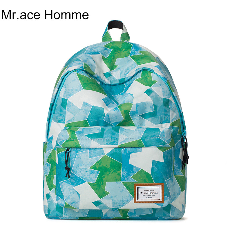 Mr ace Homme brand High quality students school bags for teenage girls cute fashion printing travel