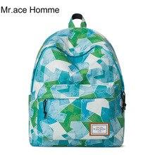 Mr. ace homme бренд высокое качество студентов школы сумки для девочек-подростков милые с модным принтом туристические рюкзаки женские сумки для ноутбуков