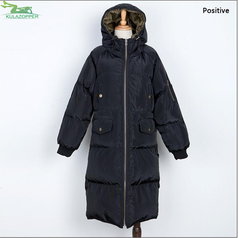 Women Parka 2017 Winter New Jacket Plus Size Looes Hooded Long Solid Thick Warm Cotton Liner Outwear For Female Coat QW637 printer front control panel for hp t610 t1100 q6683 control keyboard board display screen on sale