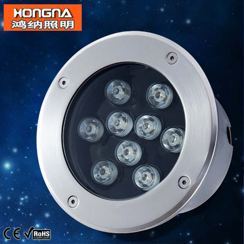 цены Free Shipping AC85-265V High Power 9W LED Underground Lamp Waterproof LED Underground Light