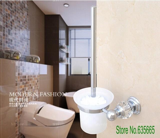 Mode de luxe en cristal de décoration en laiton chromé de toilette ...