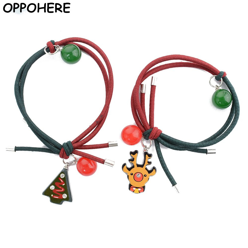 OPPOHERE Women Girl Christmas Elastic Hair Band Ring Rope Headband Snowman Xmas Gift