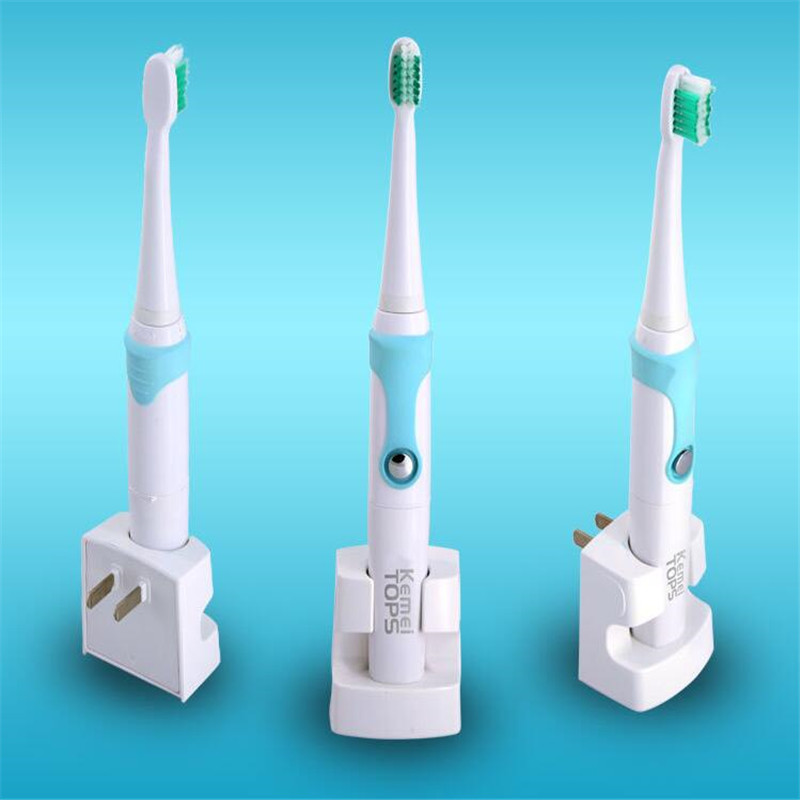 цена KEMEI WATERPROOF CHARGEABLE SONIC ELECTRIC TOOTHBRUSH WITH 3 REPLACED HEADS