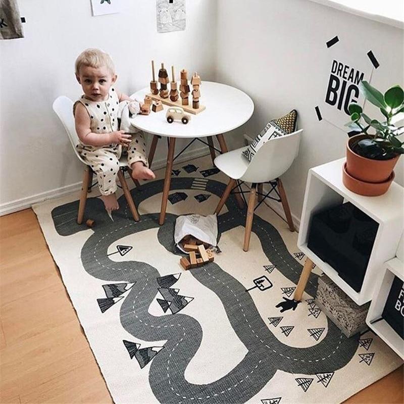 Baby Kriechen Teppich Abenteuer Wald Decke Kinder Spielen Matten Strasse Track Spiel Fitnessraum Spielmatte Boden Teppich Kinderzimmer Dekoration