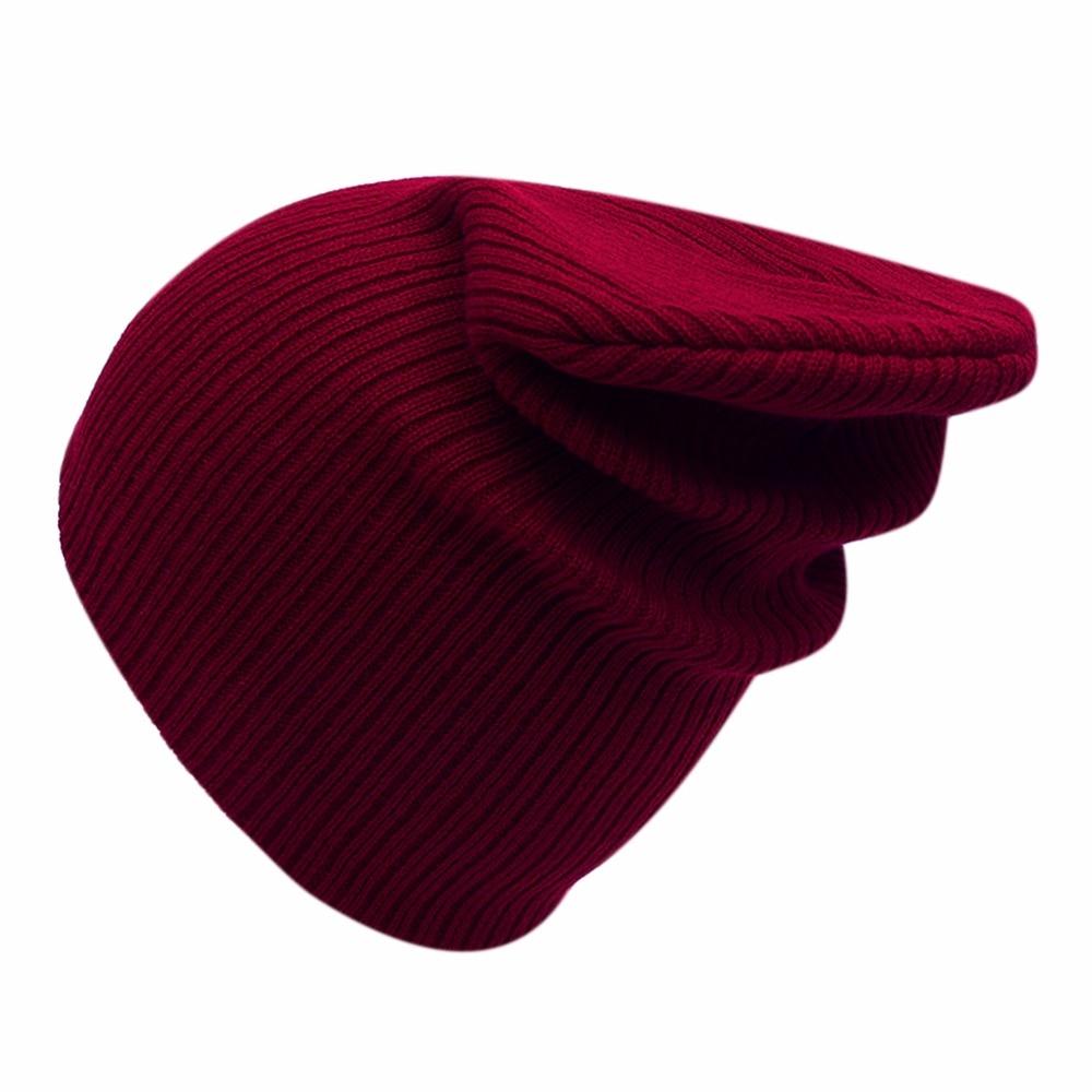 Winter Hat For Women Men Knitted Cap Solid Color Beanie Warm Hat Men Women Casual Caps Hip-Hop Cap Comfortable Stripe Skullies unisex cotton hip hop hat with ring warm beanie cap in winter women knitted hats men and women skullies