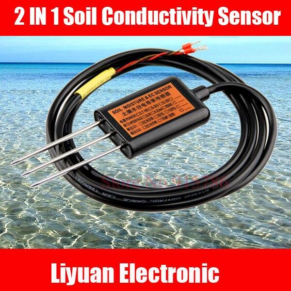2 in 1 soil conductivity sensor 0 2 soil temperature for 0 4 soil carbon