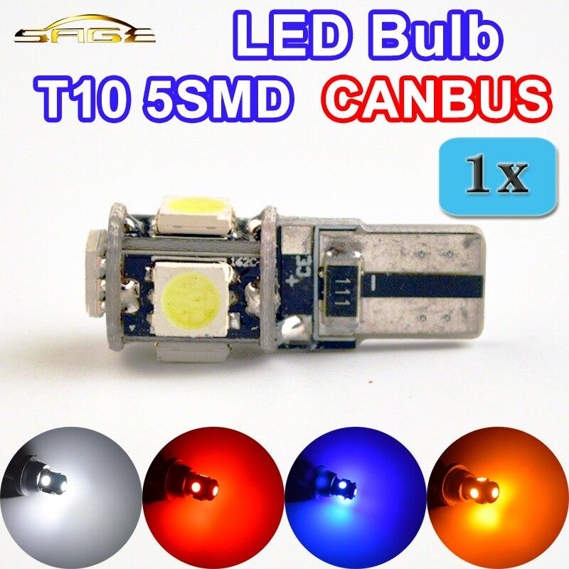 T10 5SMD LED CANBUS 5050 SMD W5W 194 ошибок автомобиля