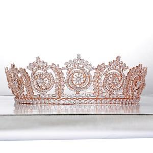 Image 5 - Tiaras And Crowns Fashion Elegant Bridal Crowns For Women Wedding Gift Hair Accessories BC4847 Hair Jewelry Corona Princesa