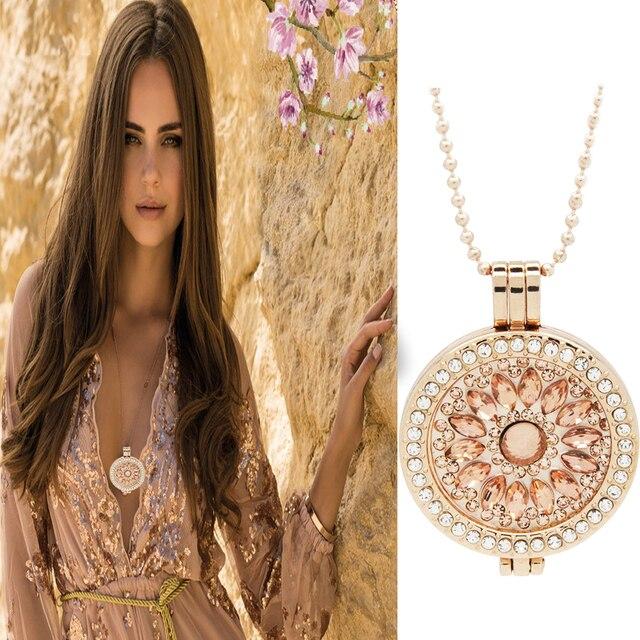 Mode Meinen Münze Halskette Anhänger Schmuck Rose Gold Bling