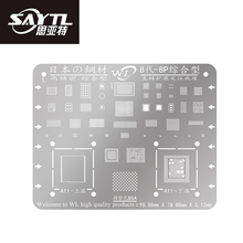 WL BGA Stencil for iPhone 8 8P 7 7P 6S 6SP 6 6P Motherboard IC