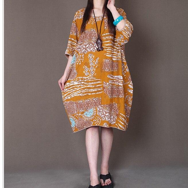 2019 Jaro léto Nové ženy Oblečení Volný Velkoformátový tisk Poloviční rukáv Dámská móda Klasický Neformální Bavlněné prádlo