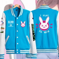 D.va Sweatshirt Hoodie woman Jackets Baseball Coats Dva Autumn Clothes Winter Cotton Sweatshirts For Women Coat Genji Reaper