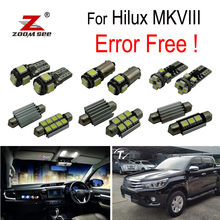 3 pcs LED Interno della cupola mappa Luci di lampadina Kit Per Toyota per Hilux MK8 MKVIII (2015 +)