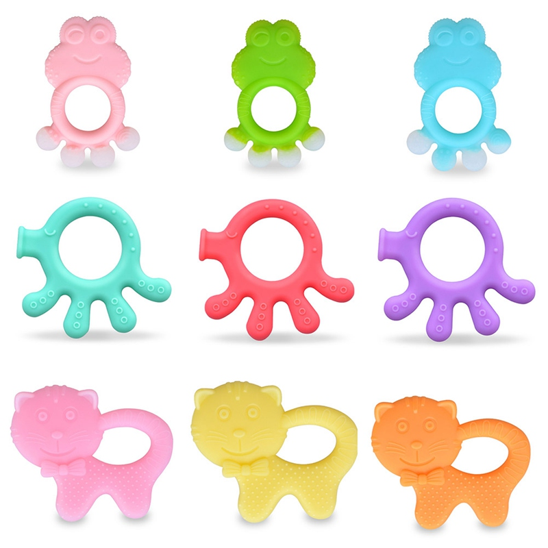Baby Teethers Silicone Teething Toys Frog Cat Octopus