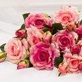 Toque Real aumentou marrige decorações de natal para casa decoração de Casamento de seda artificial peony flor decorativa Decoração Do Partido