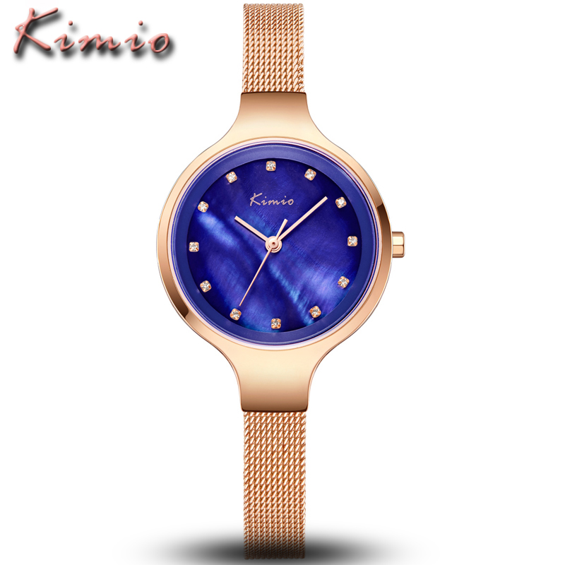 KIMIO Brand Luxury Women Bracelet Watches Ladies Clock Stainless Steel Women's Watches Ultra Thin Diamond Dial Quartz Wristwatch kimio brand bracelet watches women reloj mujer luxury rose gold business casual ladies digital dial clock quartz wristwatch hot page 2