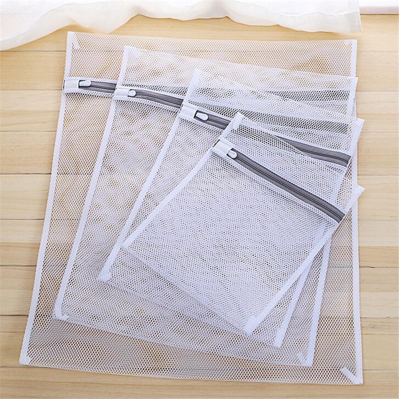 Clothes Washing Bag Mesh Wash Bag Lingerie Delicates Laundry Zipper 3 Sizes Underwear Washing Machine Clothes Protection Net