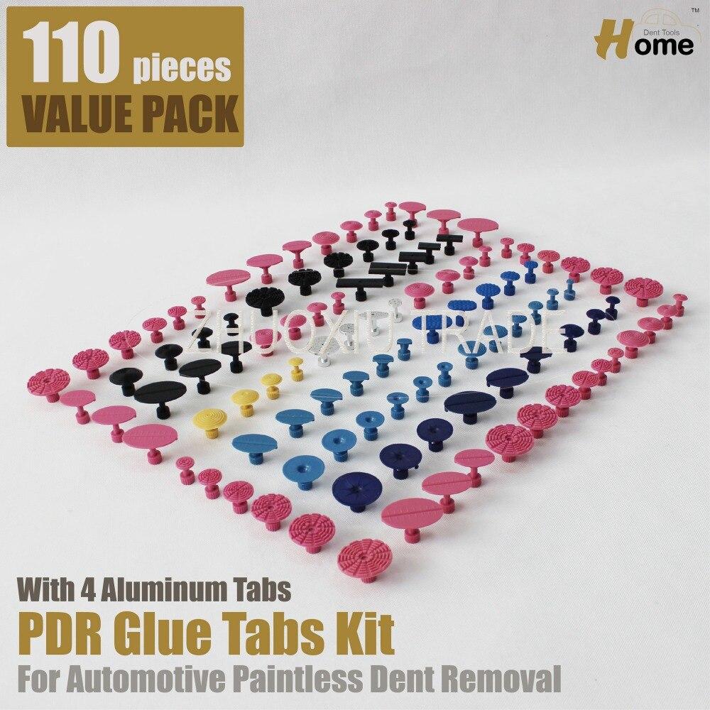 Prix pour 110 pièces PDR Colle Puller Tabs Retrait Kits Carrosserie Débosselage sans peinture Outils (TAB-110)