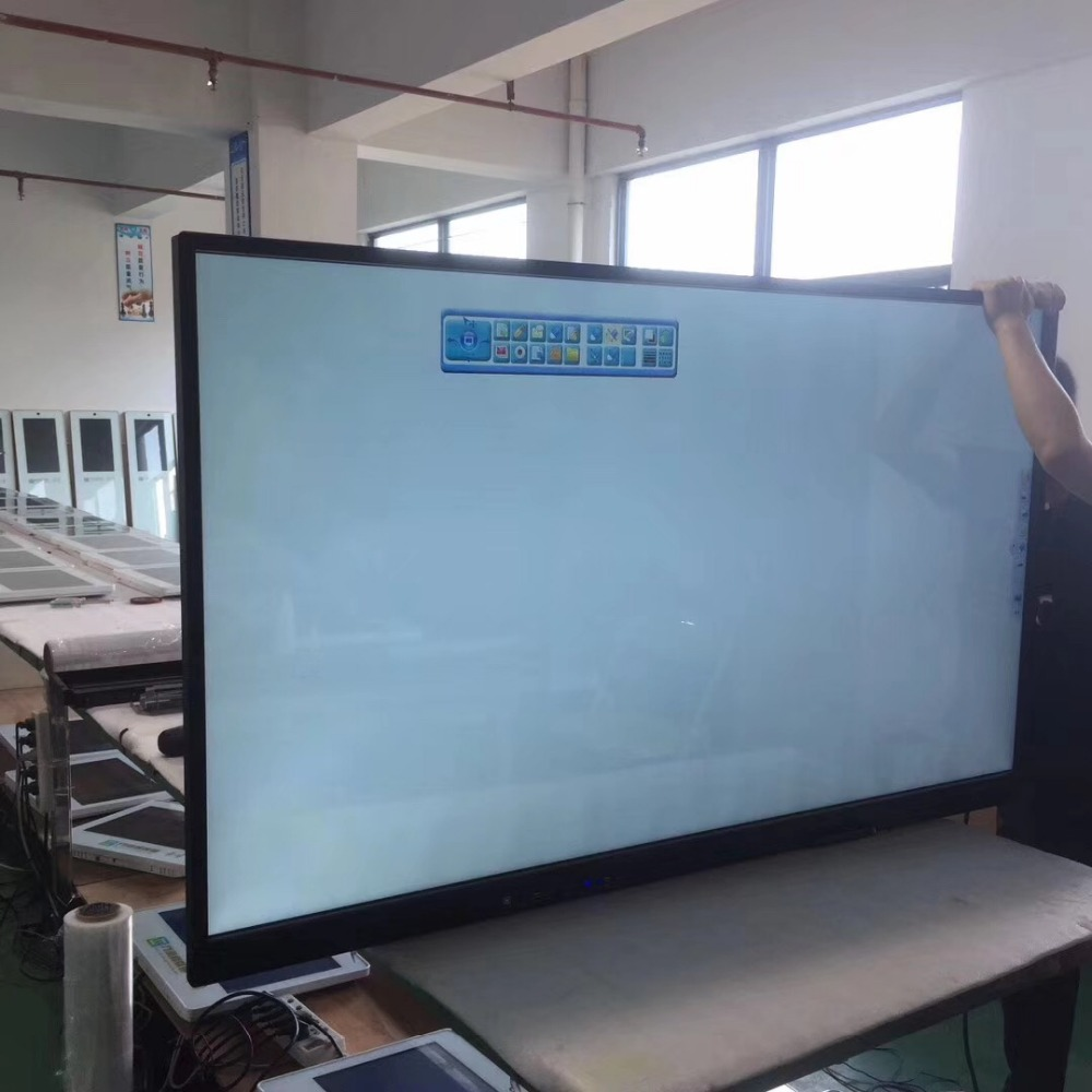 LED TV Function 43 49 55 65 Inch  LCD Social Media Teaching Display Kiosk /Digital Signage/ Touch Screen Monitor With Pc Buit In