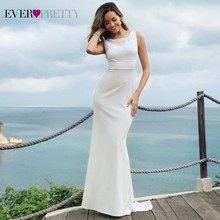 Wedding Dress 2019 Ever Pretty EZ07804 Simple Mermaid Sleeveless Vestidos De Novia Summer Elegant Bride Prom Gowns