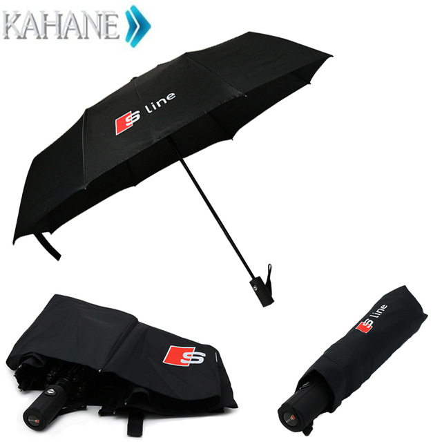 High Quality Automatic Folding Umbrella Men Rain Windproof Parasol - Audi umbrella