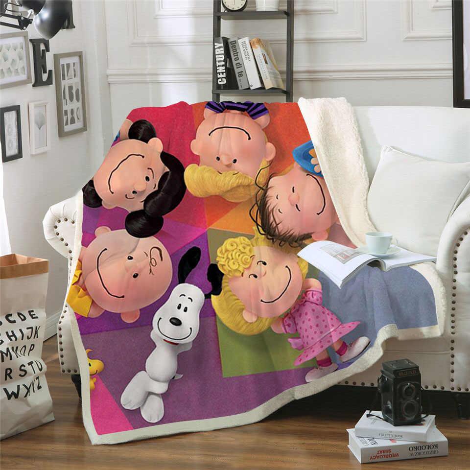 Милое детское 3D шерстяное одеяло с принтом бархатное плюшевое Флисовое одеяло-покрывало на диване квилт для софы покрытие для путешествий постельные принадлежности выход