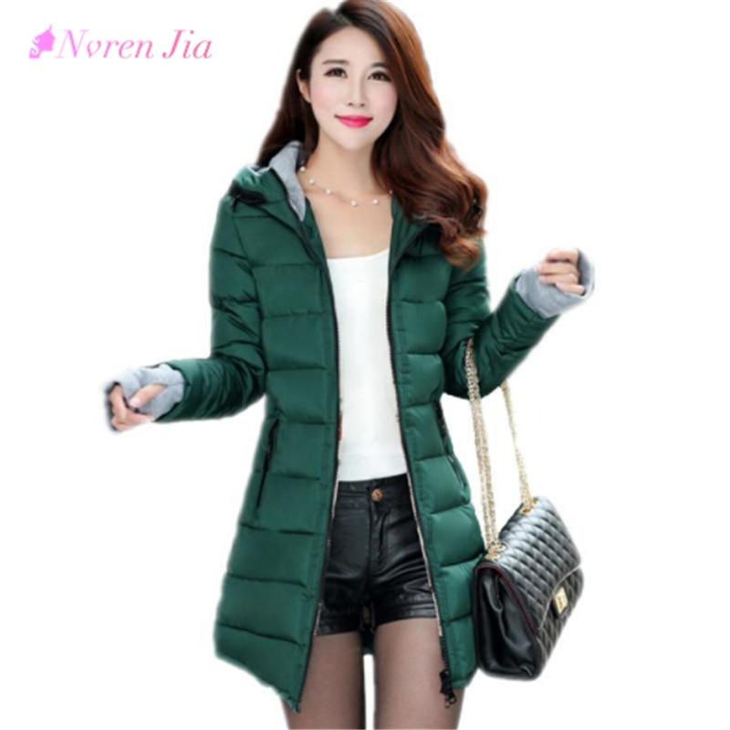 2018 New Wadded Jacket Female Women Winter Jacket Down Cotton Coat Slim Parkas Ladies Plus Size Womens Jackets And Coats
