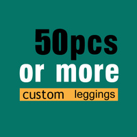 100pcs More Heavily Customized Print Woman Leggings